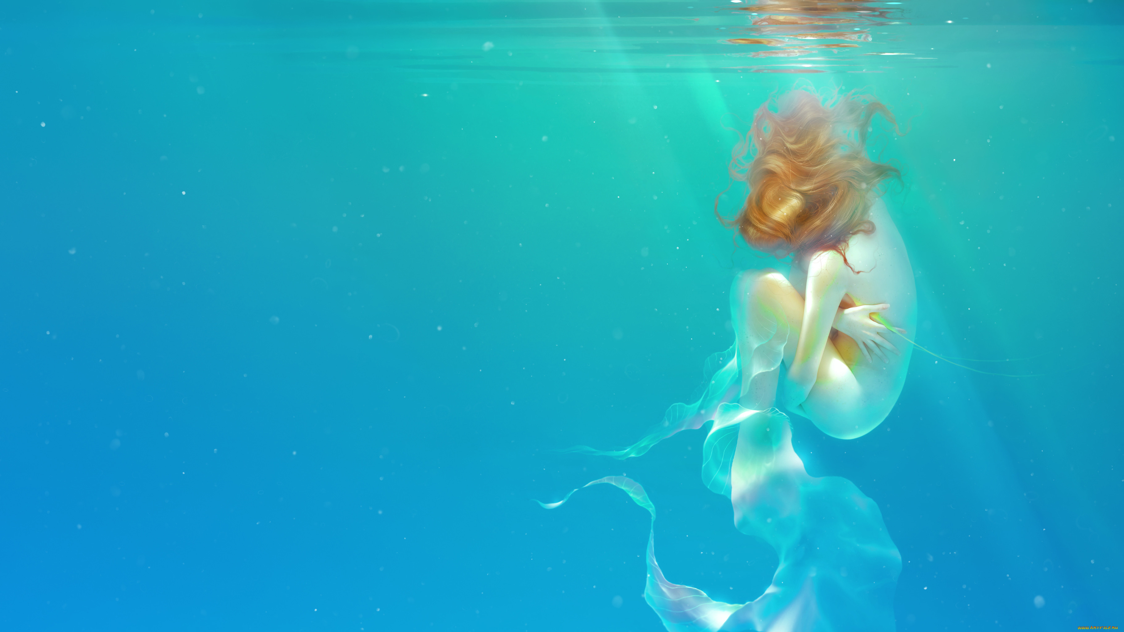 фэнтези, девушки, девушка, фон, вода
